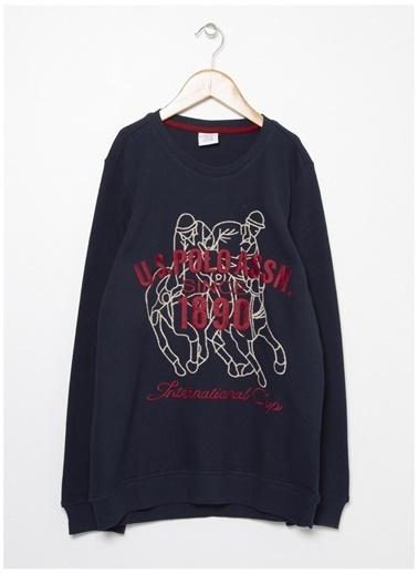 U.S. Polo Assn. U.S. Polo Assn. Aplikeli Lacivert Erkek Çocuk Sweatshirt Lacivert